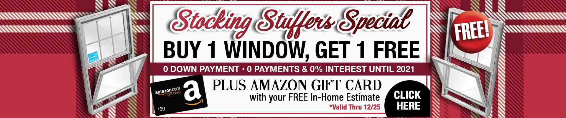 Window Nation Stocking Stuffer Special Offer BOGO